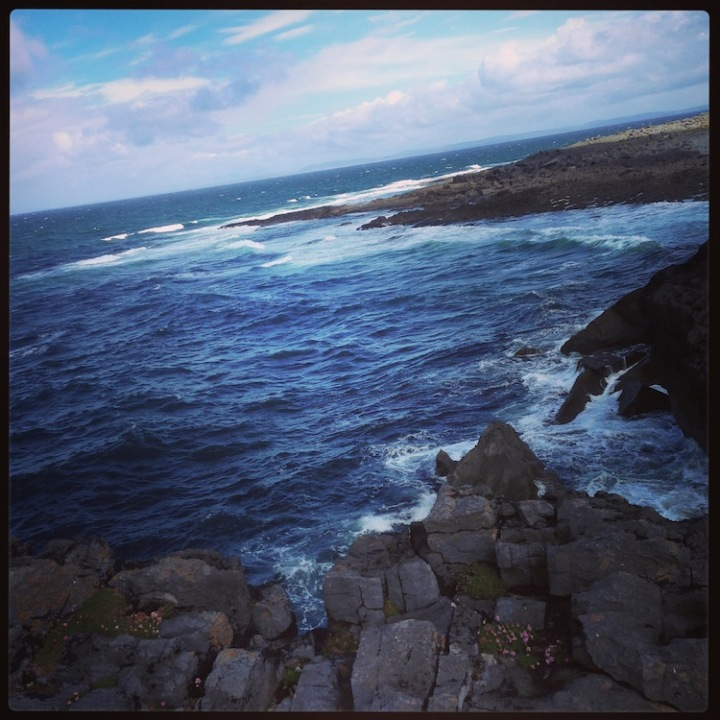 The Clare coast, just north of Doolin