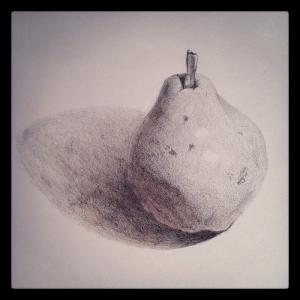 Pear study, graphite